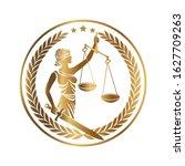 lady justice  themis  femida... | Shutterstock .eps vector #1627709263