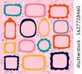 hand drawn cute frames set.... | Shutterstock .eps vector #1627728460