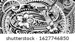 polynesian pattern design with...