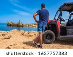 The Beach Of Paphos. Cyprus....