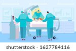 surgeon performing operation ...   Shutterstock .eps vector #1627784116