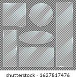 acrylic glass banner with... | Shutterstock .eps vector #1627817476