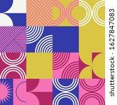 abstract geometric vector... | Shutterstock .eps vector #1627847083