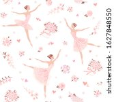 seamless floral pattern with...   Shutterstock .eps vector #1627848550