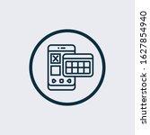 calendar icon isolated black on ... | Shutterstock .eps vector #1627854940