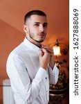 grooms morning preparation ... | Shutterstock . vector #1627888069