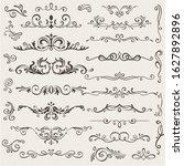 vector set of calligraphic...   Shutterstock .eps vector #1627892896