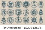 the biggest bundle of vintage...   Shutterstock .eps vector #1627912636