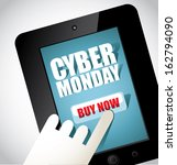 cyber monday tablet design... | Shutterstock .eps vector #162794090