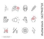 symptom cold virus icon set ... | Shutterstock .eps vector #1627943710