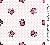 cute pink animal paw pad... | Shutterstock .eps vector #1627947976