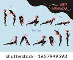 surya namaskar   sun salutation ...   Shutterstock .eps vector #1627949593