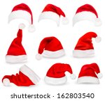 Collection Of Red Santa Hats....