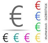 euro multi color style icon....