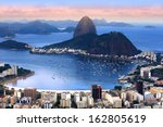 Stock photo rio de janeiro brazil in the evening sun light 162805619