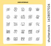 outline 25 user interface icon...