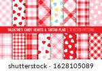 valentine's day candy hearts... | Shutterstock .eps vector #1628105089