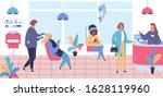 beauty salon customer service... | Shutterstock .eps vector #1628119960