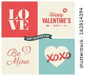 valentines day illustrations... | Shutterstock .eps vector #162814394