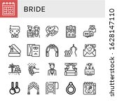 bride icon set. collection of... | Shutterstock .eps vector #1628147110