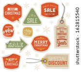 stickers and labels for...   Shutterstock . vector #162815540