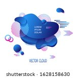 template of flyer or banner... | Shutterstock .eps vector #1628158630