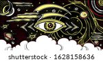 abstract composition with eye... | Shutterstock .eps vector #1628158636