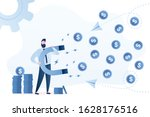 handsome businessman with a... | Shutterstock .eps vector #1628176516