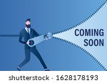 businessman opens zipper  soon... | Shutterstock .eps vector #1628178193