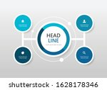 flow chart with circle abstract ...   Shutterstock .eps vector #1628178346
