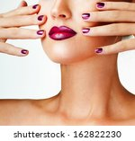 beautiful female lips with... | Shutterstock . vector #162822230