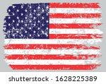 grunge usa flag.vintage flag of ... | Shutterstock .eps vector #1628225389