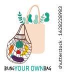 textile reusable shopping bag ... | Shutterstock .eps vector #1628228983