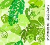green foliage. seamless texture.... | Shutterstock .eps vector #162823349