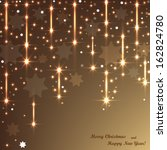 beautiful christmas background... | Shutterstock .eps vector #162824780