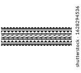 polynesian band tattoo  vector...   Shutterstock .eps vector #1628294536