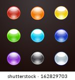 colorful vector glass drop'and... | Shutterstock .eps vector #162829703