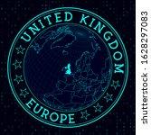united kingdom round sign.... | Shutterstock .eps vector #1628297083