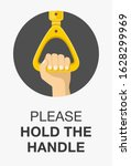 hand holding the handle in... | Shutterstock .eps vector #1628299969