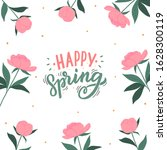 happy spring hand drawn...   Shutterstock .eps vector #1628300119