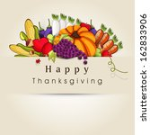 happy thanksgiving day... | Shutterstock .eps vector #162833906
