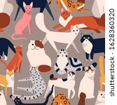 Seamless Colored Pattern With...