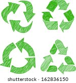illustration of recycle doodle...   Shutterstock .eps vector #162836150