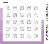 set of finance line icon set 25 ... | Shutterstock .eps vector #1628365519