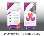 rollup template vector... | Shutterstock .eps vector #1628389189