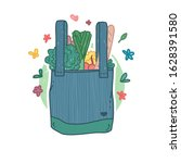 reusable tote bag icon in... | Shutterstock .eps vector #1628391580
