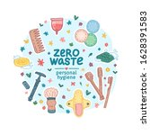 zero waste hygiene kit design.... | Shutterstock .eps vector #1628391583