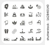 spa and massage icons set | Shutterstock .eps vector #162840140