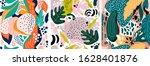 set of abstract modern trendy... | Shutterstock .eps vector #1628401876