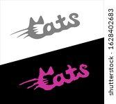 Cats Word Stylish Fashion Logo...